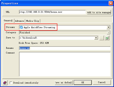 HiDownload record and download Quicktime streaming video and